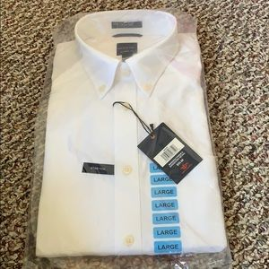 Brand new Dockers stretch white button down